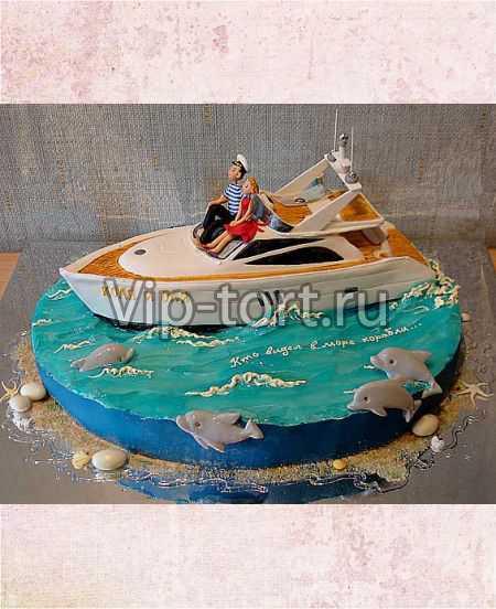 Фото тортов в виде яхты