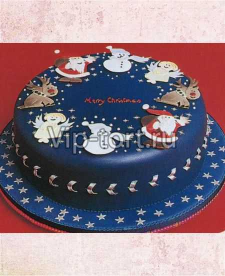 """Новогодний торт """"Рождественские символы"""""""
