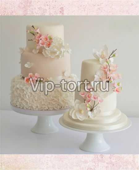 Свадебные торты нежные